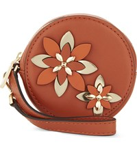 Michael Michael Kors Flower Leather Pouch Orange