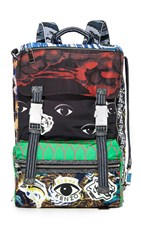 Kenzo Essentials Flap Backpack Multi