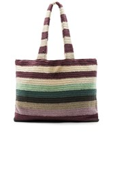 Mara Hoffman Crochet Beach Tote Purple