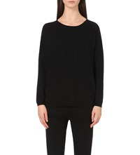 Allude Long Sleeved Cashmere Jumper Black