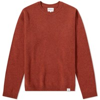 Norse Projects Sigfred Lambswool Crew Knit Orange