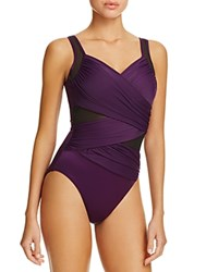 Miraclesuit Network Madero One Piece Swimsuit Plum