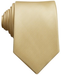 Perry Ellis Oxford Solid Tie Yellow