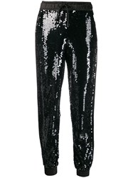 Versace Jeans Couture High Rise Sequin Embellished Track Pants 60
