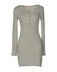 Met Short Dresses Light Grey