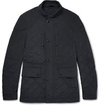 Tom Ford Quilted Shell Field Jacket Navy