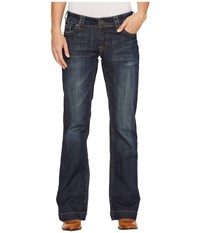Stetson Open Pocket W Stitched Circle Blue Women's Jeans