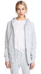 Baja East Bye Felicia Zip Hoodie Light Grey