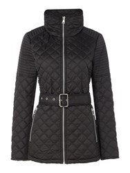 Andrew Marc New York Quilted Jacket With Tuck Away Hood Black