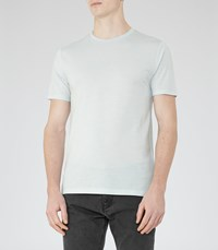 Reiss Bless Marl Mens Crew Neck T Shirt In Blue