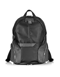 Piquadro Nylon And Leather Computer Backpack Black