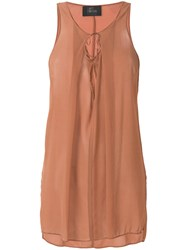 Lost And Found Ria Dunn Flared Tank Top Brown