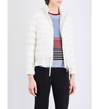 Moncler Anemone Frilled Hem Quilted Jacket White