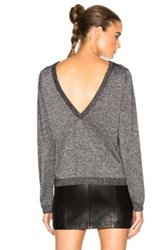 Equipment Calais V Back Sweater In Gray Metallics Gray Metallics