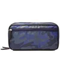 Fossil Double Zip Shave Kit Blue Multi