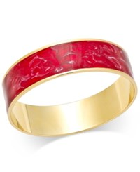 Erwin Pearl Atelier For Charter Club Gold Tone Enamel Swirl Cuff Bracelet Only At Macy's Red Gold