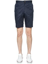 Thom Browne Light Cotton Twill Chino Shorts Navy