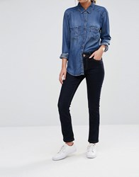 Oasis Rinse Wash Mid Rise Slim Leg Jean Blue