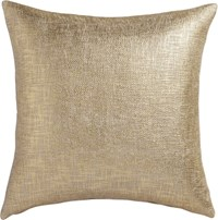 Cb2 Glitterati Gold 23'' Pillow With Feather Insert