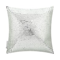 Kylie Minogue At Home Square Crystal Bed Cushion Silver 30X30cm