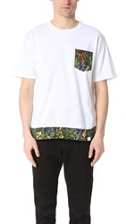 White Mountaineering Tropical Pattern Printed Tee White