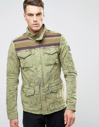 Scotch And Soda Camouflage Jacket Green