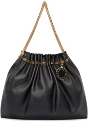 Stella Mccartney Black Chain Hobo Bag