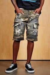Forever 21 Victorious Camo Shorts Olive