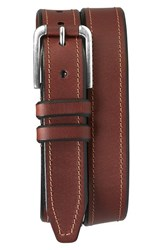 Men's Trask 'Gibson' American Steer Leather Belt