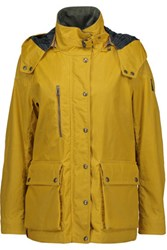 Belstaff Tourmaster Coated Cotton Hooded Jacket Mustard
