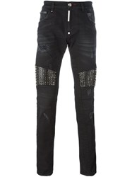 Philipp Plein 'Slow Motion' Skinny Jeans Black