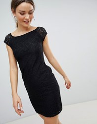 Zibi London Pencil Dress With Lace Sleeves Black