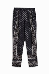 3.1 Phillip Lim Knot Print Trousers Navy