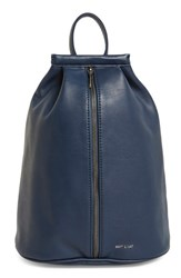 Matt And Nat 'Lawrence' Vegan Leather Backpack Blue Abyss