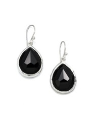 Ippolita Rock Candy Black Onyx And Sterling Silver Mini Teardrop Earrings Black Silver