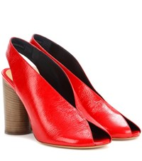 Isabel Marant Meirid Patent Leather Sandals Red