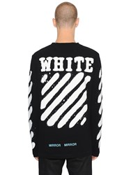 Off White Spray Stripes Long Sleeve Jersey T Shirt