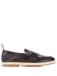 Santoni Double Buckle Loafers Brown