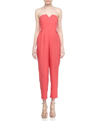 Naven Sleeveless V Neck Sateen Jumpsuit Teaberry