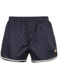 Gucci Gg Monogram Swim Shorts Blue