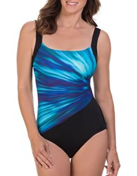 Reebok Bright Horizon One Piece Swimsuit Blue