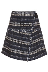 Proenza Schouler Tweed Wrap Front Skirt