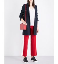Harris Wharf Cocoon Wool Coat Dark Blue