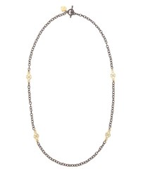Armenta Short Gold Station Cable Chain Necklace 18 L
