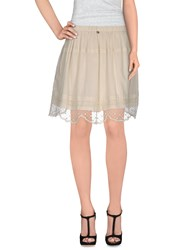 Scee By Twin Set Skirts Knee Length Skirts Women Ivory