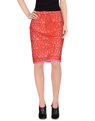 Elie Tahari Knee Length Skirts Coral