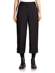 Thom Browne Cropped Wool Pants Black
