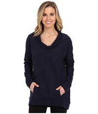 Savasana Long Sleeve Cowl Lucy Navy Women's Sweater Black