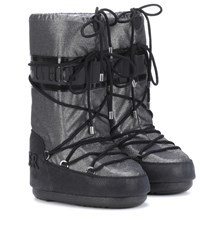 Moncler X Moon Boot Ankle Boots Silver