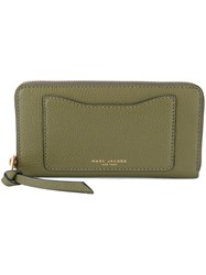 Marc Jacobs Zip Around Wallet Women Leather One Size Green